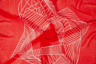 BASMA Design - Cherry Blush Silk Scarf Low Res